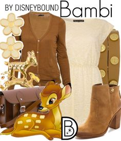 Even Bambi gets his own Disney inspired look.  | Disney Fashion | Disney Fashion Outfits | Disney Outfits | Disney Outfits Ideas | Disneybound Outfits |