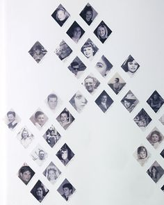 Cut-outs of photos to display a design
