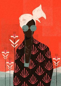 William Santiago : illustration femme colorée