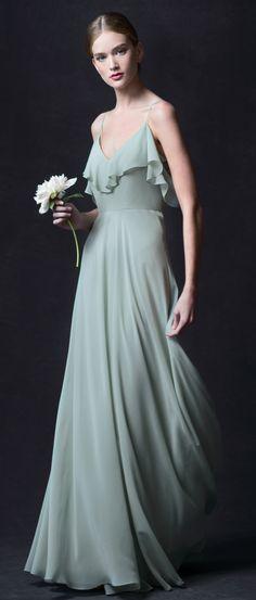 Mila Dress in Morning Mist Luxe Chiffon by Jenny Yoo