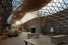 Downland Gridshell | Sussex, England | Edward Cullinan Architects | 2002