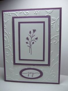 Embossed Joy by maria031767 - Cards and Paper Crafts at Splitcoaststampers