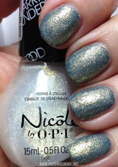 Nicole by OPI Sing Like a Bee over Goodbye Shoes