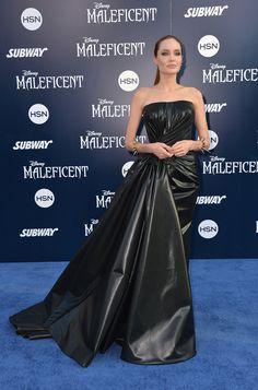 Angelina Jolie 2014 in Versace bei der Premiere von Maleficent