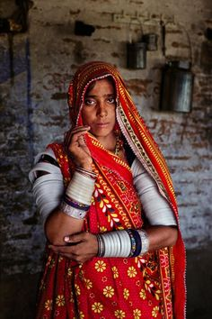 Village lady from Gujarat, India