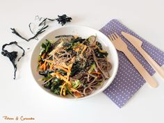 Nouilles au sarrasin et algues wakamé [vegan & sans gluten]