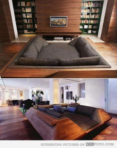 Bed couch - Interesting and cozy looking couch merged with a bed.