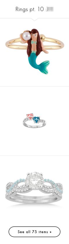 """""""Rings pt. 10 :)!!!!"""" by nerdbucket ❤ liked on Polyvore featuring jewelry, rings, green, adjustable rings, fancy rings, 14 karat gold ring, les nereides jewelry, beaded rings, cz heart ring and heart ring"""