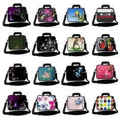 """nice 15"""" 15.4"""" 15.6"""" Laptop Shoulder Bag Messenger Sleeve Notebook Case Cover +Outside Handle"""