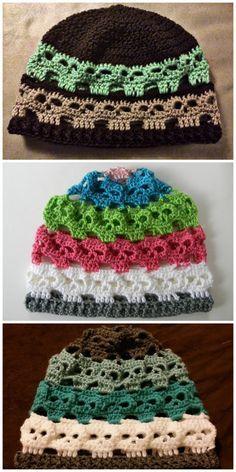 Exceptional Stitches Make a Crochet Hat Ideas. Extraordinary Stitches Make a Crochet Hat Ideas. Bonnet Crochet, Crochet Diy, Crochet Beanie, Thread Crochet, Crochet Crafts, Yarn Crafts, Crochet Projects, Crochet Skull Patterns, Halloween Crochet Patterns