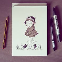 Snow #inktober #day22 (Promarker and ink)