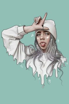 Billie Eilish's album is out! We have TONS of Billie fan remixes on deck if you're looking to get even more hyped (we highly recommend)! Click through to check them out 🔗 Shout out to PicsArtist for this Billie gem 💎 Cartoon Cartoon, Cartoon Kunst, Cartoon Faces, Billie Eilish, Cartoon Wallpaper, Art Drawings Sketches, Cute Drawings, Drawing Faces, Digital Art Girl