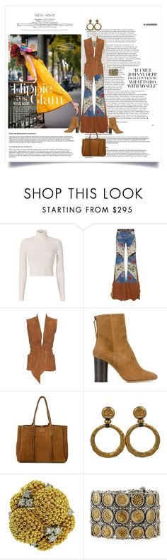 """Hippie Glam"" by shoecraycray ❤ liked on Polyvore featuring A.L.C., Roberto Cavalli, Hermès, Isabel Marant, Lanvin, Chanel and Konstantino"