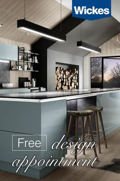 Book your free design appointment at Wickes today. With a wide range of stunning kitchens to choose from, we're here every step to help create your dream space; from inspiration to installation.