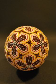 collecting temari from a page showing the work of a 80 year old grandmother
