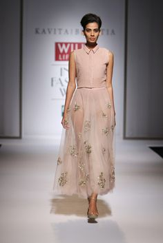 The sheer skirt, with a floral petticoat underneath?