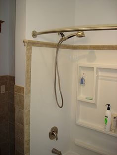 Shower surround closeup
