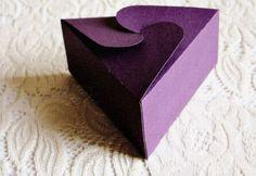 triangular gift box template