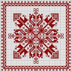 biscornu cross-stitch - free