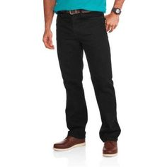 Faded Glory Men's Relaxed Fit Jeans, Size: 36 x 29, Black