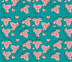 OB Nurse Cervix fabric by hot4tees_bg@yahoo_com on Spoonflower - custom fabric