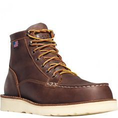 15563 Danner Men's Bull Run Moc Toe Work Boots - Brown www.bootbay.com