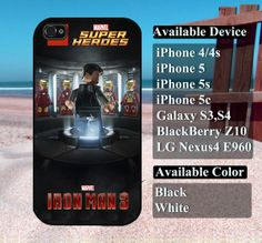 Lego Iron Man  iPhone 4/4s iPhone5 iPhone5s iPhone5c by vallenshop, $13.50