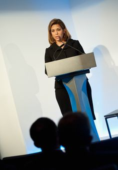 HRH Princess Haya Bint Al Hussein speaks at the Beyond Sport Summit on October 19, 2015 in London, England