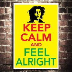Keep Calm Bob Marley Poster 11x17 by ThePickleShop on Etsy, $15.00