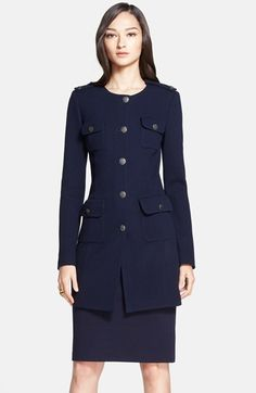 St. John Collection Milano Piqué Knit Topper available at #Nordstrom