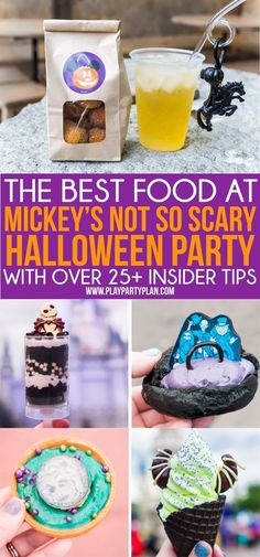 The best things to eat at the 2018 Mickey's Not So Scary Halloween Party and tons of party tips and tricks!