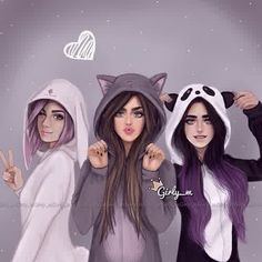 Image via We Heart It https://weheartit.com/entry/153263180/via/18461416 #art #beautiful #cartoon #catwomen #cool #cute #draw #girls #girly #hairstyle #lips #longhair #painting #panda #pink #style #burble #girly_m #burblehair