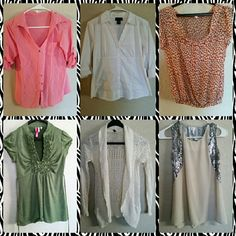 Lot of 6 young professional dress shirts All will fit a size small Tops