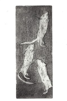 #etching from a cooper plat, sugar lift, artist Ilana Graf 2014