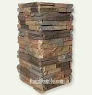 Front porch columns - LOVE this stacked stone...hmmmmmuch better than our current stone