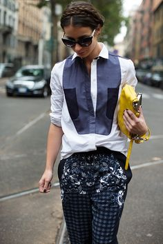 totally fabulous. Irina in Milan. #APortablePackage