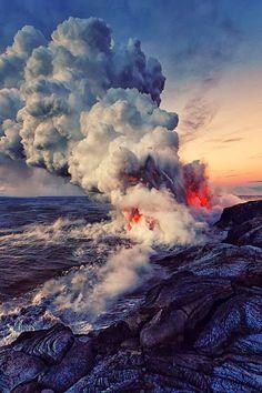 Spectacular Sea Eruption
