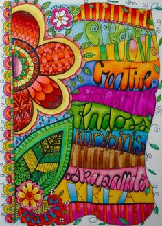 Creativity art-journals- I love the bright colors in this!!