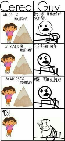 Cereal Guy vs. Dora