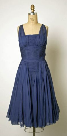 Jean Dessès dress 1953 via The Costume Institute of the Metropolitan Museum of Art 1953 yr I was born