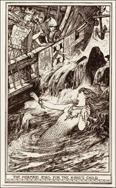 The Mermaid and the Boy - The Brown Fairy Book by Andrew Lang, 1904