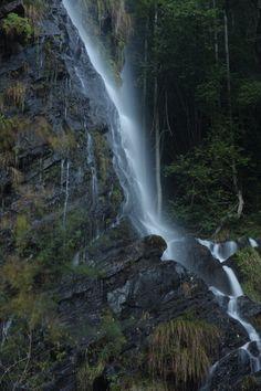 Preciosa ruta de senderismo por bosques autóctonos en el occidente asturiano, para acabar en una bella cascada. Existe una desviación al final para subir a ver dos tejos centenarios junto a la ermita de Busqueimado. La ruta cruza por el Valle del desterrado.