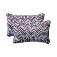 Outdoor 2-Piece Rectangular Toss Pillow Set - Forssa Chevron Quick Information
