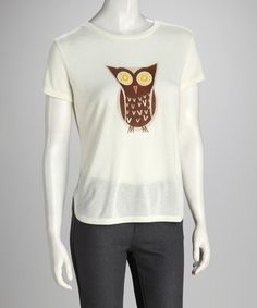 Take a look at this Vanilla Cupcake Owl Hi-Low Tee by Love By Design on #zulily today!