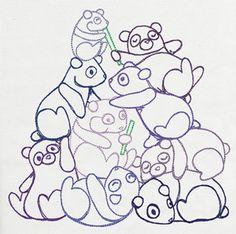 Pile o' Cute - Panda Pile design (UT10507) from UrbanThreads.com