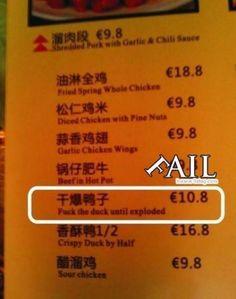Chinese food FAIL
