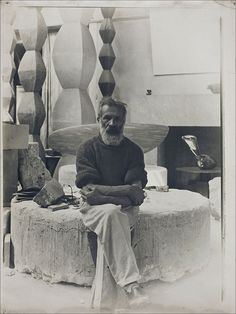 Constantin Brâncuși · Self Portrait in the Studio · 1934
