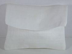 Sacchetto in lino avorio, portaconfetti, bomboniera elegante, cm.12x9 chiuso a pacchetto. Disponibile da C&C Creations Store