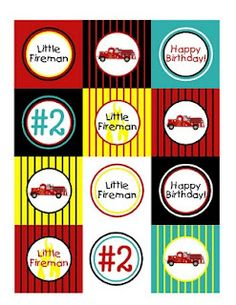 Free Firetruck Toppers