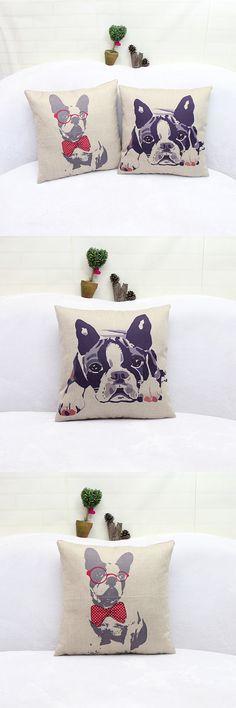 Free Shipping Wholesale 100% New European Style Adorable French Bulldog Dog Seriesdecorative Throw Pillow Cushion For Home Decor $6.6
